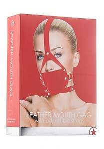 Кляп Leather Mouth Red OUCH!  SH-OU148RED